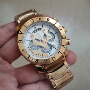 Todos los sub-esferas trabajo para hombre Top relojes de pulsera de cuarzo Cronómetro militar hombres de lujo del reloj del deporte masculino San Valentín regalo