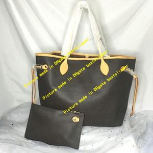 Tote clássico Naverfull Saco com Clutch Wallet compras Bolsas de viagem Bolsas Mulheres Moda Messenger Ombro Bolsa M40990 M40995 GM MM