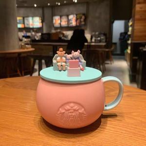 355ml Starbucks Kupası Lüks Sevimli Domuz Seramik Kupalar Evli Çiftler Yıldönümü Sabah Mug Süt Kahve Çay Kahvaltı Sevgililer Günü