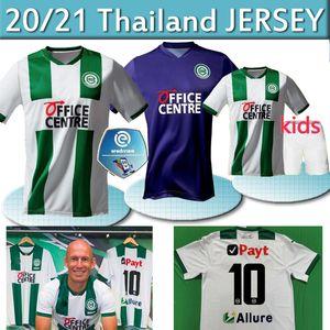 20 21 FC Groningen futbol formaları ev uzakta 2020 2021 Groningen Deyovaisio Zeefuik Redan formalarını maillot de ayak thai Robben