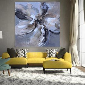 Aceite abstracto de la flor nórdica amapolas rojas pintura sobre lienzo Retro posters Imágenes pared del arte copias de época para la sala Salon Decoración