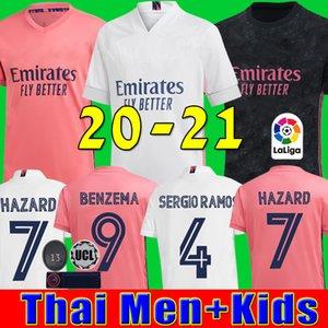 camisetas de real Madrid 20 21 HAZARD JOVIC MILITAO soccer jersey 2020 2021 kids VINICIUS JR ASENSIO camiseta de fútbol niños MARCELO ISCO camisa de futebol