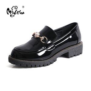 2020 летняя обувь Женские полуботинки лакированные весенние Мокасины для женщин кроссовки женская обувь оксфорд дамы осень одиночными