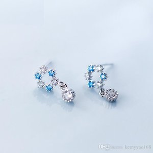 Wholesale Stud Earrings 100% Guaranteed Solid 925 Sterling Silver Stud Earrings with Cubic Zirconia