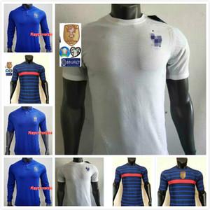 Version du joueur France griezmann Mbappe Pogba Soccer Jerseys 2020 21 Chemises Kante Edition spéciale 1919 2020 Centenaire Maillot