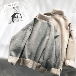 Turtleneckstrickjacke 2020 Winter-Frauen Maxi-nette Suéter Mujer Pullover Strick Mix-Farbe Thick Grils Korean Pullover
