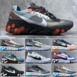 2019 New React Element 55 87 Undercover Men Women running shoes Tour Yellow Bright Blue Orange Pee mens cheap sneakers trainers shoes