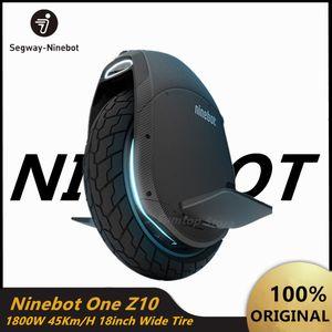 Original Ninebot Segway Um Z10 auto balanceamento de rodas Scooter elétrico monociclo 1800W Motor Velocidade 45 kmh build-in Handle Hoverboard Z10 Z6