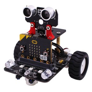 Graphical Programmable Robot Car with Bluetooth IR and Tracking Module Stem Steam Robot Car Toy for Micro:bit BBC(Include Micro)