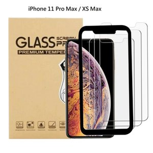 3 packs with install tray 0.3MM 2.5D 9H Tempered Glass Screen Protector For iPhone 11 Pro Max Tempered Glassess Retail Box