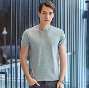 2020 High Quality Fashion Mens T Shirts Casual Short Sleeve T Shirt Solid Casual Cotton Tee Shirt Summer Clothing T76E#