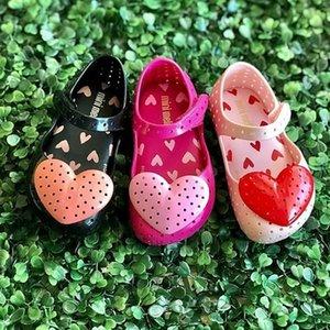 2019 Yeni Melisa aşk kızlar Baotou delik kaymaz jöle çocuk çocuk ayakkabıları kokulu ayakkabı