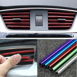 İç kalıplama ölçer sticker çıkartmaları iç aksesuarlar hava dış esnek araba trimler şeritler çizgi çıkartmalar 5 dekorasyon Outlet St AQRF
