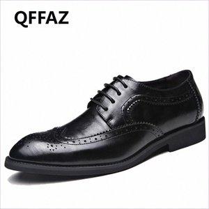 QFFAZ العلامة التجارية أحذية الرجال عالية الجودة أشار تو اللباس أحذية رجالية ذكر ملابس رسمية Zapatos هومبر أوكسفورد زائد الحجم 38 48 قارب أحذية S bSuA #