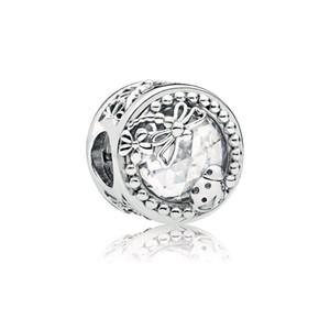 100% 925 libélula de prata esterlina e encantos de joaninha encaixar original EUROPEY charme pulseira moda mulheres casamento acessórios