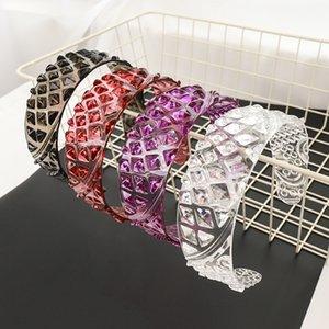 Nouveau Transparent Bandeau en cristal irrégulière Rhombus large Hairband géométrique ananas Hairwears pour les filles de femmes