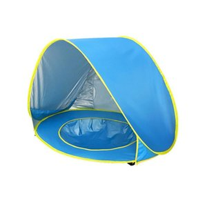 Bebé de la playa Carpa UV-protector Sunshelter niños pequeños juguetes Casa impermeable emergente Toldo Carpa portátil Ball Pool Kid Carpas Nueva