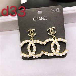 2020Top Quality Red Drop Oil Earrings Gold Color Stainless Steel Pearl Stamp Earring Gold Silver Ear Studs For Women Wedding Party Jewelry