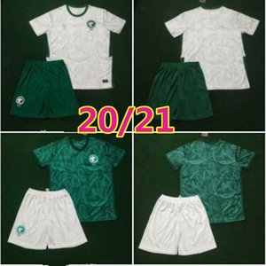 MEN KIDS 2020 2021 Arábia Saudita equipa nacional de futebol Jersey criança KITS 20 21 Arábia Saudita EDUARDO BOTIA Fahad Al Muwallad camisas de futebol