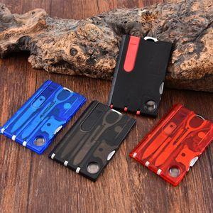 Portátil ferramenta multifuncional Outdoor Cartão externas faca tesoura pinças chave de fenda de luz LED faca lxj055 Viagem Camping Caça Survival