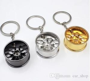 Catena Wheel Rim portachiavi creativo automatico Parte dell'anello portachiavi chiave del supporto dell'anello Keyfob
