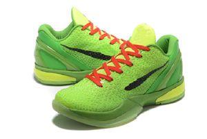 Black Mamba VI 6 Grinch bambini scarpe sportive di vendita con la scatola Mamba 6 uomini donne Rosa Verde di pallacanestro scarpe nere trasporto libero size36-46