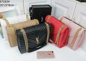 06Famous Markendesigner Luxus-Handtaschen der Qualitätsfrauen Umhängetasche klassische echtes Leder-Umhängetasche GgYSL
