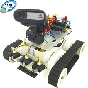 WiFi Rover 5 Tank With Video Camera Kit Tank Robot Chassis Robot Kit Speed Encoder with 280 Motor STEAM Educational Robot kit
