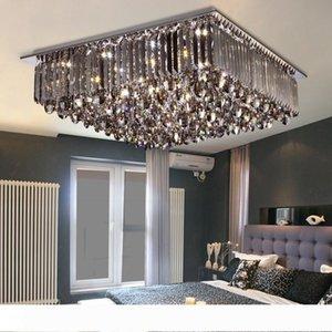 Moda luminária de cristal LED Praça teto Acende Lustres criativas Mordern iluminação regulável teto LED Indoor Lamp