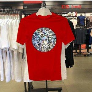 Balenciaga Herren Stylist T-Shirts Schwarz Weiß Rot Mens Fashion Stylist Versace T Shirts Top Short Sleeve Kenzo S-5XL