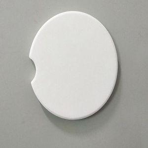 sublimazione della ceramica di automobili in bianco coasters 6.6 * 6,6 centimetri a caldo di trasferimento di stampa russe vuote di consumo materiali