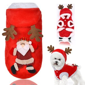 Christmas Dog Clothes Pet Dog Coat Pet Costume Winter Cloth for Small Dogs Festival Dressing Clothes Cute Warm Cat Costume A06