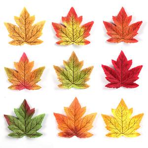 50pcs / lotto 8 centimetri Maple Leaf Autunno Maple Leaf artificiale della decorazione della casa di Halloween Matrimoni Eventi vegetali decorativi