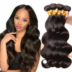 Tissage de cheveux 1pc Brésilien Vierge Cheveux 100% Weave 8a vague de corps