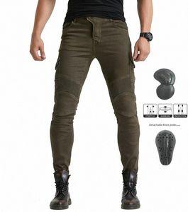 verde militar Volero MOTORPOOL vaqueros de los pantalones UBS06 motocicleta equipo de protección contra los pantalones vaqueros de los hombres moto de carreras qVPI #