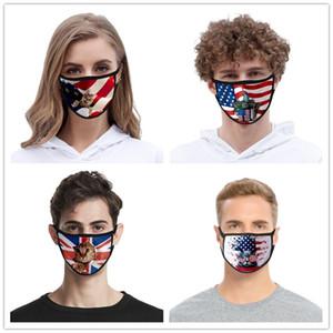 40 Дизайн маски Американского флага лица Для взрослых Детей Trump Американских Выборов Face Cover пыл моющегося Ice Шелкового хлопок Маски Дизайнерских Масок