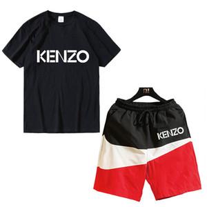 Designer Style Luxe Survêtement 2020 d'été pour hommes Italie Vêtements de sport de marque KENZO manches courtes hommes T-shirt de sport costume décontracté