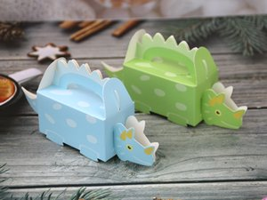 Cute DIY Dinosaur Candy Boxes Baby Shower Party Gifts Box Kids Birthday Party Decorations Favor Holder Boxes