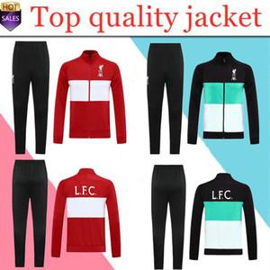 2020 2021 качества футбол куртки набора Survetement 20 221 с длинного рукавом мужской молнии куртки футбола рубашка комплект униформы
