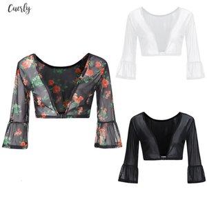 Shirt Women Ladies Both Side Wear Sheer Plus Size Seamless Arm Shaper Top Mesh Shirt Blouses 2020 Fashionable 25