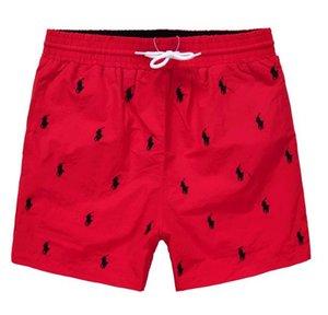 Ralph Lauren Mens di estate del progettista dei pantaloni di bicchierini di modo di 4 colori stampati con coulisse Shorts 2019 Relaxed pantaloni della tuta di lusso Homme