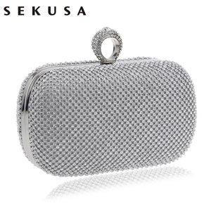 Evening Evening Clutch Bags SEKUSA Bag With Wedding Chain Handbags Womens Shoulder Wallets Bag For Diamond-Studded Cfexj