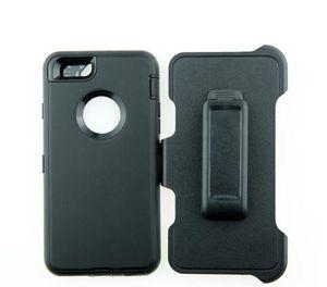 Venta de la alta calidad de goma 3en1 Heavy Duty multi-capa para el iPhone caso del defensor, la armadura con el caso de logotipo para iPhone con clip de cinturón