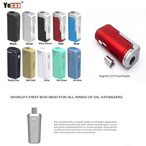 Yocan UNI Box Mod Vape Pen Kit Fit All 510 Cartridge 10s Preheat Function With Three Speed Voltage Levels 650mah Adjustable Voltage Battery
