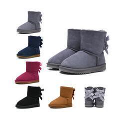 Luxe Bottes WGG Australian Classique Bottes de neige Designer Fille Garçon Enfants Bailey Bow Chaussures hiver cheville bottillons 26-35 U77 garder au chaud