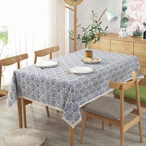 Baumwollleinentischabdeckung Waschbar Porzellan Tuch für Weihnachten Wedding Banquet Cafes, Restaurants Tischdecke für Tisch
