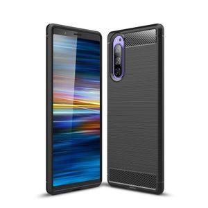 In fibra di carbonio di caso per Sony Xperia XA2 Ultra XA1 Inoltre XZ XZ XZS Premium XZ1 Compact xz2 XZ3 XZ4 1 Ace XA3 10 Plus 5 8 1 II 10 della copertura del telefono