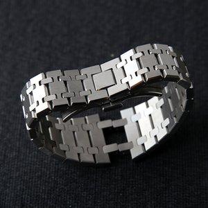 조각 T200113와 최고 손목 시계의 21mm에서 26mm 남성 여성 전체 스테인레스 스틸 시계 밴드 팔찌를 들어 AP 로얄 오크 스트랩 폴딩 버클