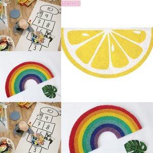 INS estilo nórdico do arco-íris andsemi-circular tapete de chão da sala de decoração prop casa mobiliário de decoração adereços foto das crianças