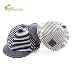 Baby Baseball Caps Summer Cotton Infant Hats Cute Casual Striped Soft Eaves Baseball Cap Baby Boy Beret Girls Sun Hat
